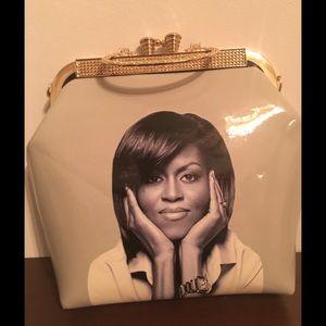 Handbags - Michelle Obama Gold Embellishment Handbag